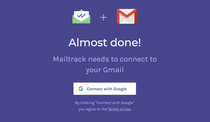 Mailtrack Connect With Google
